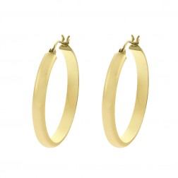 14K Yellow Classy Gold Ring Dangle Hoop Earrings 3.5gram