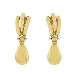14K Yellow Gold Drop Dangle Earrings 2.5 grams