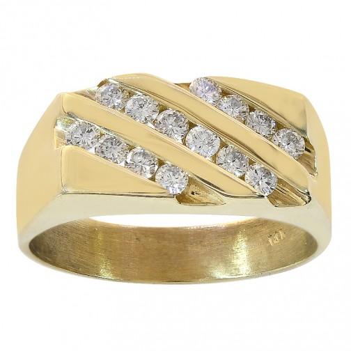 Prism Jewel 0.33 Carat Round Cognac Diamond Screw Back Prong Set Stud Earrings 14k Yellow Gold