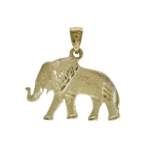 New Solid 14K Gold 24MM Elephant Head Charm Pendant 4.5 Grams