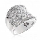 4.25 Carat Round Brilliant Diamond Wedding Band 18K White Gold