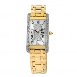 Geneve 18K Yellow Gold Watch With Customized Bezel