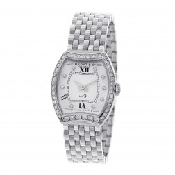Bedat & Co. 304.031 No. 3 with Diamond Dial and Bezel Stainless Steel Ladies Watch