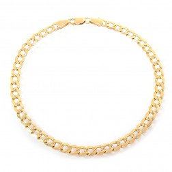 14k Yellow Gold Curb Link Chain Ankle Bracelet
