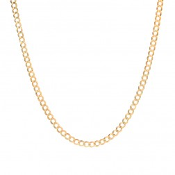3.6 mm 10k Yellow Gold Curb Chain Necklace