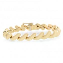 9.5mm 14K Yellow Gold San Marco Fancy Bracelet