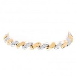 6.6mm 14K Two Tone Gold San Marco Fancy Bracelet Italy