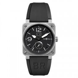 Bell & Ross BR0390-BL-ST Grande Date & Reserve de Marche Steel Watch