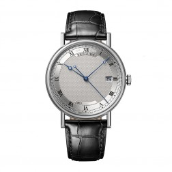 Breguet Classique Automatic 18K White Gold Watch on Leather Strap 5177BB/15/9V6