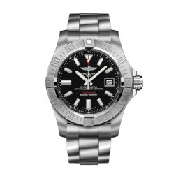 Breitling Avenger II Seawolf Stainless Steel Watch Black Index Dial A1733110/BC30/169A