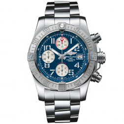 Breitling Avenger II Stainless Steel Chronograph Watch Blue Dial A1338111/C870