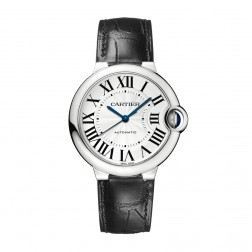 Cartier Ballon Bleu de Cartier Stainless Steel 36mm Watch Silver Dial W69017Z4