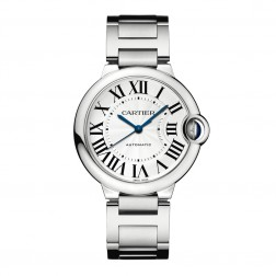 Cartier Ballon Bleu de Cartier Stainless Steel 36mm Watch Silver Dial W6920046