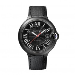 Cartier Ballon Bleu de Cartier ADLC Stainless Steel 42mm Watch Black Dial WSBB0015