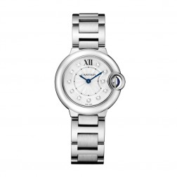 Cartier Ballon Bleu de Cartier Stainless Steel 28mm Ladies Watch Diamond Dial WE902073