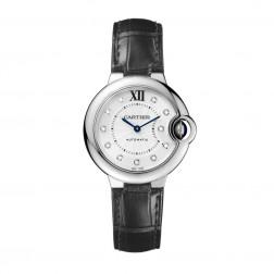 Cartier Ballon Bleu de Cartier Stainless Steel 33mm Watch Diamond Dial W4BB0009