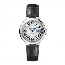 Cartier Ballon Bleu de Cartier Stainless Steel 33mm Watch Silver Dial W6920085