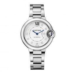 Cartier Ballon Bleu de Cartier Stainless Steel 33mm Watch Diamond Dial WE902074