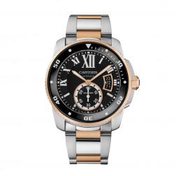 Cartier Calibre de Cartier 18K Rose Gold & Steel Watch on Bracelet W7100054