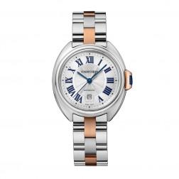 Cartier Clé de Cartier 18K Rose Gold & Steel Ladies 31mm Watch W2CL0004