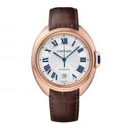 Cartier Clé de Cartier 18K Rose Gold Watch on Leather Strap WGCL0004