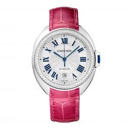 Cartier Clé de Cartier 18K White Gold Ladies Watch Diamond Bezel WJCL0011
