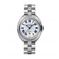 Cartier Ladies Clé de Cartier 31mm Stainless Steel Watch on Bracelet WSCL0005