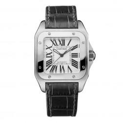Cartier Santos 100 Stainless Steel Watch Medium Size W20106X8