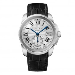 Cartier Calibre de Cartier Stainless Steel 38mm Watch on Leather Strap WSCA0003