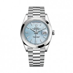 Rolex Day-Date 40 Platinum Watch Ice Blue Motif Dial 228206