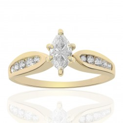 1.00 Carat Diamond Engagement Ring 14k Yellow Gold