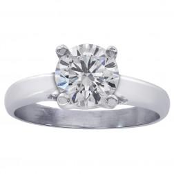 1.02 Carat GIA Certified Round Diamond Engagement Lucida Style Ring Platinum