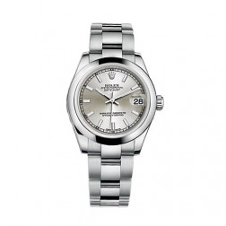 Rolex Datejust 31 Stainless Steel Watch Silver Index Dial 178240