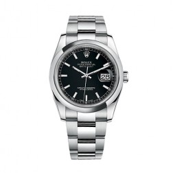 Rolex Datejust 36 Stainless Steel Watch Black Index Dial 116200