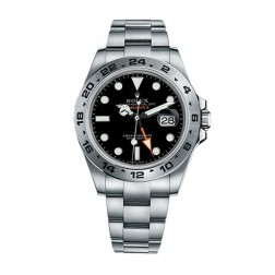 Rolex Explorer II Stainless Steel Watch Black Dial 216570