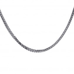 "10K White Gold 17"" inches Franco Link Necklace Chain 14.2 grams"