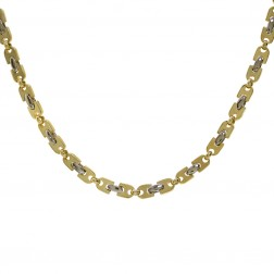 Italian 18K Yellow Gold gold Necklace Chain Made By KRIA 24""
