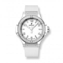 Hublot Big Bang 38mm Stainless Steel White Watch Diamond Bezel 361.SE.2010.RW.1104