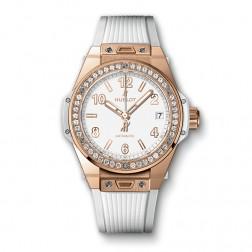 Hublot King Gold One Click 18K Rose Gold Watch Diamond Bezel 465.OE.2080.RW.1204