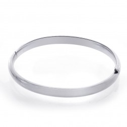 Baby's 14K White Gold Classic Bangle Bracelet