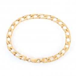 6.5mm 14K Yellow Gold Square Curb Link Bracelet