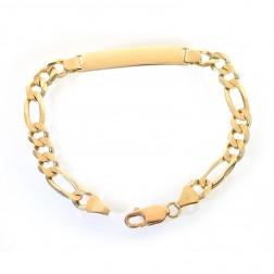 8.0mm 14K Yellow Gold ID Bracelet Italy