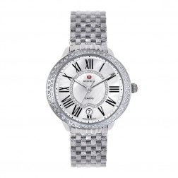 Michele Serein Mid Stainless Steel Ladies Watch Diamond MOP Dial & Bezel MWW21B000030