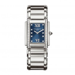 Patek Philippe Twenty~4 Stainless Steel Watch Blue Roman Dial 4910-10A-012