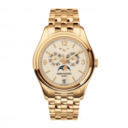 Patek Philippe Complications 18K Yellow Gold Annual Calendar Moon Phase Watch 5146/1J-001
