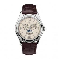 Patek Philippe Complications 18K White Gold Annual Calendar Moon Phase Watch 5146G-001