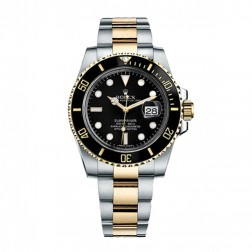 Rolex Submariner Date Steel & 18K Yellow Gold Black Ceramic Bezel 116613LN