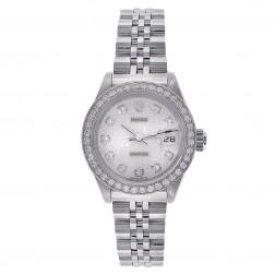 Rolex Ladies Datejust 26 Stainless Steel Watch Custom Diamond Bezel Jubilee Dial 179174