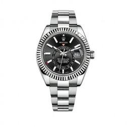 Rolex Sky-Dweller Steel & 18K White Gold Watch Oyster Bracelet 326934