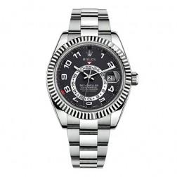 Rolex Sky-Dweller 18K White Gold Watch Black Dial 326939